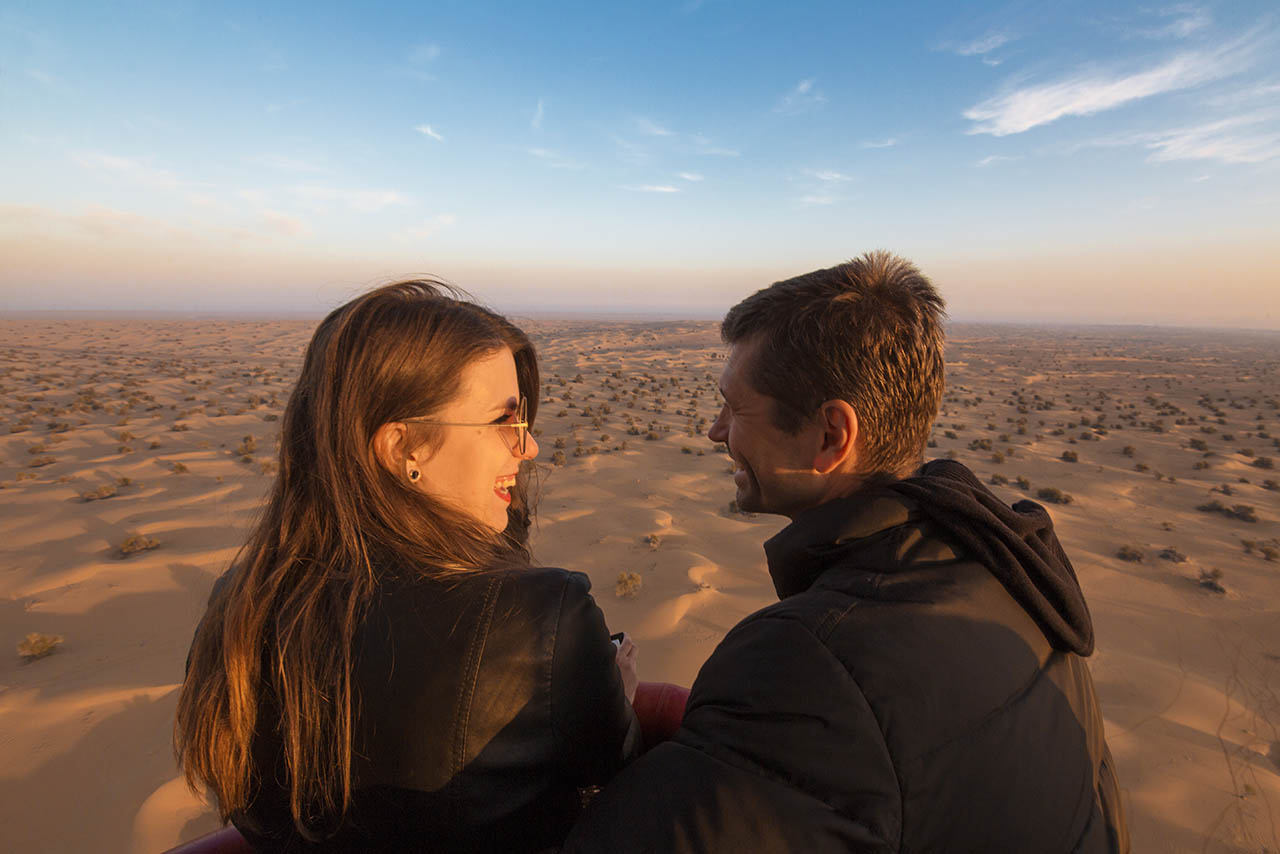 : Hot Air Balloon Ride Proposal in Dubai