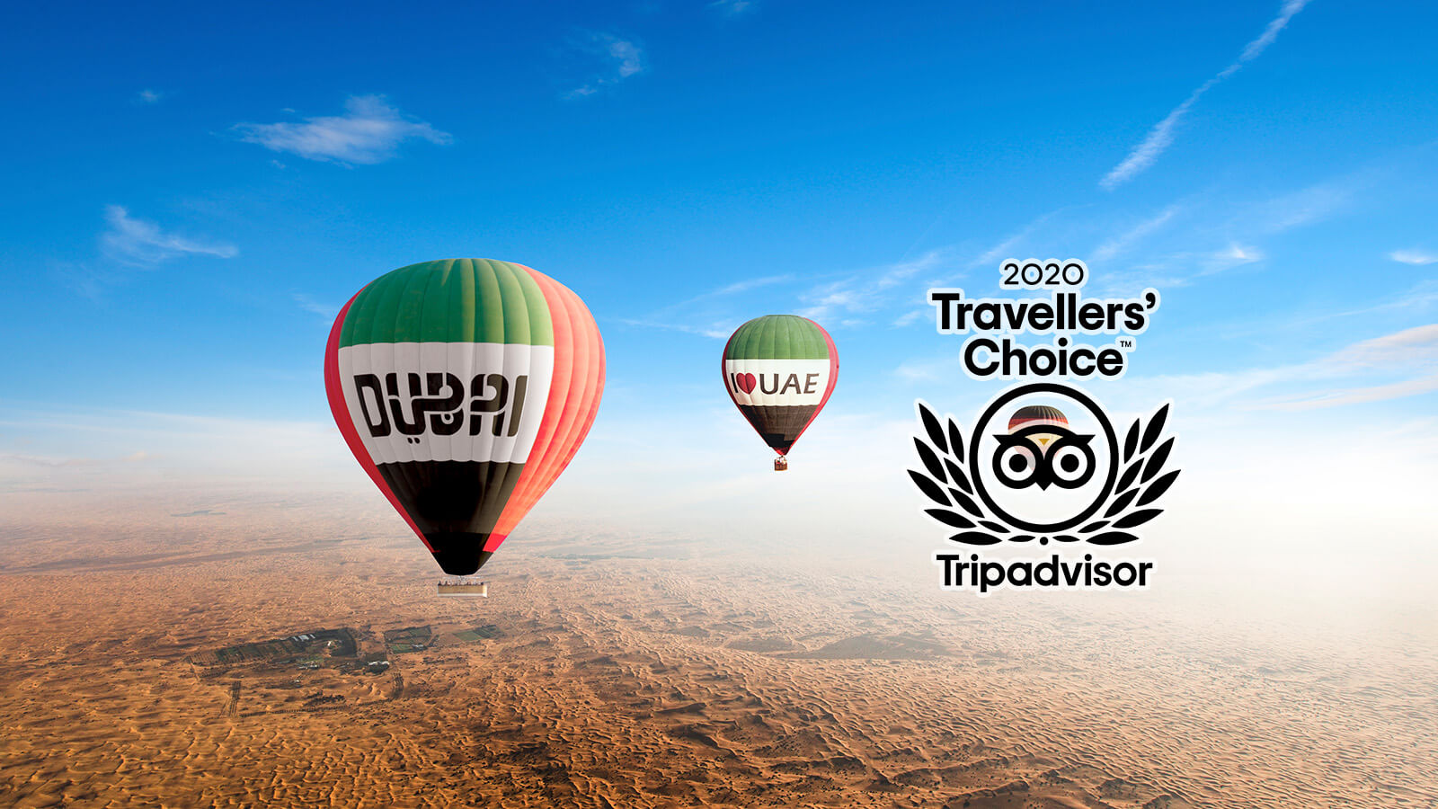 Balloon Adventures Dubai win 2020 Tripadvisor Travellers' Choice Award