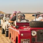 A drive in a vintage Land Rover